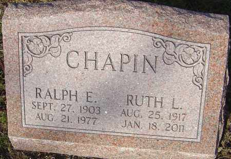 CHAPIN, RUTH L - Franklin County, Ohio | RUTH L CHAPIN - Ohio Gravestone Photos