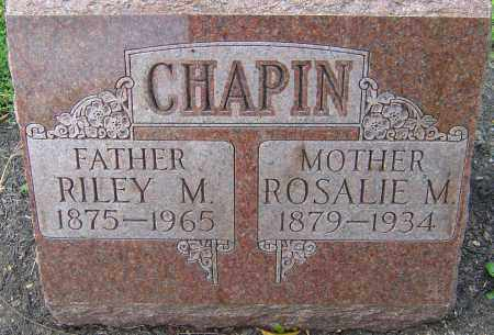 CHAPIN, RILEY M - Franklin County, Ohio | RILEY M CHAPIN - Ohio Gravestone Photos