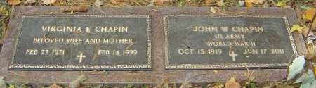 CHAPIN, VIRGINIA E - Franklin County, Ohio | VIRGINIA E CHAPIN - Ohio Gravestone Photos