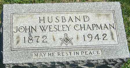 CHAPMAN, JOHN WESLEY - Franklin County, Ohio | JOHN WESLEY CHAPMAN - Ohio Gravestone Photos