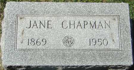 CHAPMAN, JANE - Franklin County, Ohio | JANE CHAPMAN - Ohio Gravestone Photos