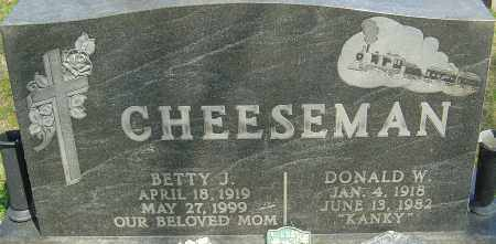 CHEESEMAN, BETTY J - Franklin County, Ohio | BETTY J CHEESEMAN - Ohio Gravestone Photos