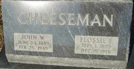 WARNER CHEESEMAN, FLOSSIE - Franklin County, Ohio | FLOSSIE WARNER CHEESEMAN - Ohio Gravestone Photos