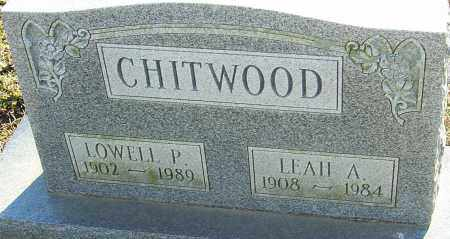 CHITWOOD, LOWELL P - Franklin County, Ohio | LOWELL P CHITWOOD - Ohio Gravestone Photos