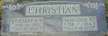 CHRISTIAN, MARJORIE E - Franklin County, Ohio | MARJORIE E CHRISTIAN - Ohio Gravestone Photos