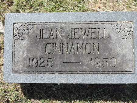 CINNAMON, JEAN JEWELL - Franklin County, Ohio | JEAN JEWELL CINNAMON - Ohio Gravestone Photos