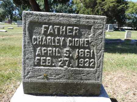 CIONE, CHARLEY - Franklin County, Ohio | CHARLEY CIONE - Ohio Gravestone Photos
