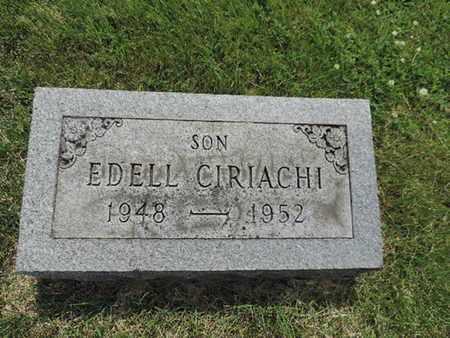 CIRIACHI, EDELL - Franklin County, Ohio | EDELL CIRIACHI - Ohio Gravestone Photos