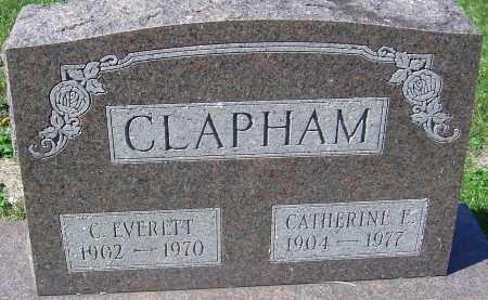 CLAPHAM, CARY EVERETT - Franklin County, Ohio   CARY EVERETT CLAPHAM - Ohio Gravestone Photos