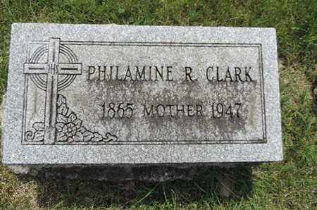 CLARK, PHILAMINE R. - Franklin County, Ohio | PHILAMINE R. CLARK - Ohio Gravestone Photos