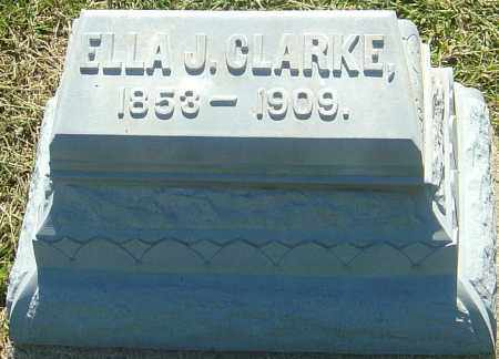 CLARKE, ELLA J - Franklin County, Ohio | ELLA J CLARKE - Ohio Gravestone Photos
