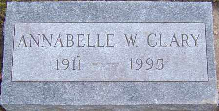 WINTER CLARY, ANNABELLE - Franklin County, Ohio | ANNABELLE WINTER CLARY - Ohio Gravestone Photos