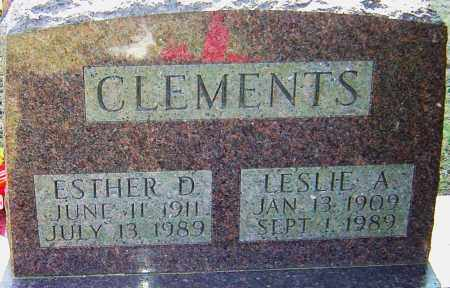 CLEMENTS, LESLIE A - Franklin County, Ohio | LESLIE A CLEMENTS - Ohio Gravestone Photos