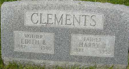 CLEMENTS, HARRY J - Franklin County, Ohio | HARRY J CLEMENTS - Ohio Gravestone Photos