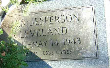 CLEVELAND, ALLEN JEFFERSON - Franklin County, Ohio | ALLEN JEFFERSON CLEVELAND - Ohio Gravestone Photos