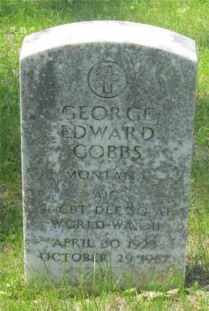COBBS, GEORGE EDWARD - Franklin County, Ohio | GEORGE EDWARD COBBS - Ohio Gravestone Photos