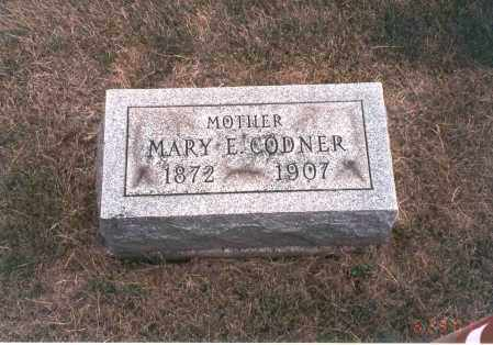 CODNER, MARY E. - Franklin County, Ohio | MARY E. CODNER - Ohio Gravestone Photos