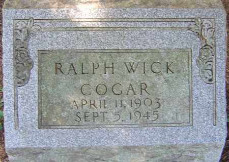 COGAR, RALPH WICK - Franklin County, Ohio | RALPH WICK COGAR - Ohio Gravestone Photos