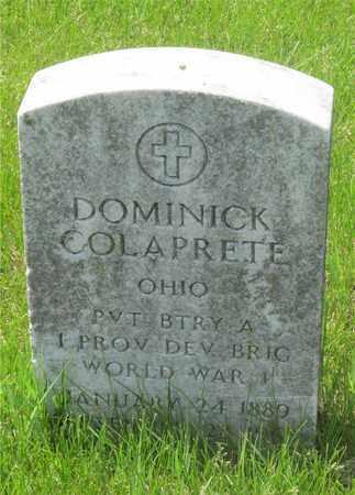 COLAPRETE, DOMINICK - Franklin County, Ohio   DOMINICK COLAPRETE - Ohio Gravestone Photos