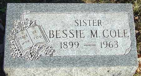 COLE, BESSIE M - Franklin County, Ohio | BESSIE M COLE - Ohio Gravestone Photos