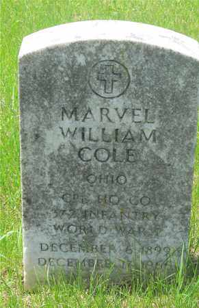 COLE, MARVEL WILLIAM - Franklin County, Ohio | MARVEL WILLIAM COLE - Ohio Gravestone Photos