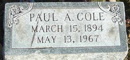 COLE, PAUL A - Franklin County, Ohio | PAUL A COLE - Ohio Gravestone Photos