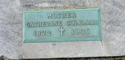 COLEMAN, CATHERINE - Franklin County, Ohio | CATHERINE COLEMAN - Ohio Gravestone Photos