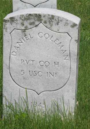 COLEMAN, DANIEL - Franklin County, Ohio | DANIEL COLEMAN - Ohio Gravestone Photos