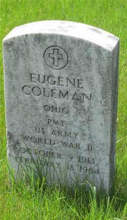 COLEMAN, EUGENE - Franklin County, Ohio | EUGENE COLEMAN - Ohio Gravestone Photos