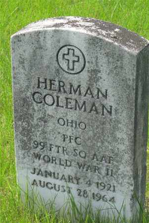 COLEMAN, HERMAN - Franklin County, Ohio | HERMAN COLEMAN - Ohio Gravestone Photos