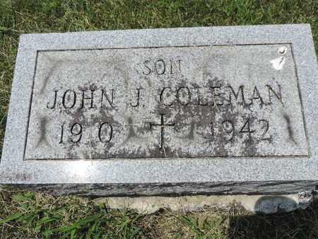 COLEMAN, JOHN J. - Franklin County, Ohio | JOHN J. COLEMAN - Ohio Gravestone Photos