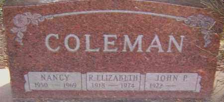 COLEMAN, R ELIZABETH - Franklin County, Ohio | R ELIZABETH COLEMAN - Ohio Gravestone Photos