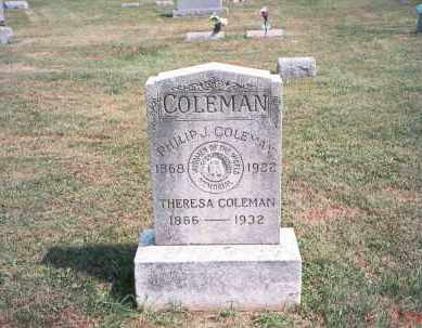 COLEMAN, PHILIP J. - Franklin County, Ohio | PHILIP J. COLEMAN - Ohio Gravestone Photos