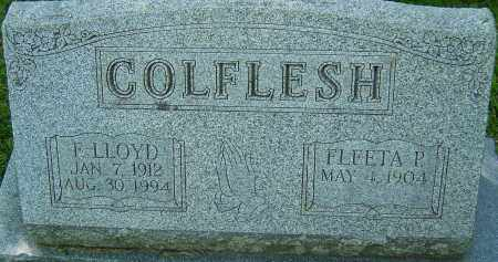 COLFLESH, F LLOYD - Franklin County, Ohio | F LLOYD COLFLESH - Ohio Gravestone Photos
