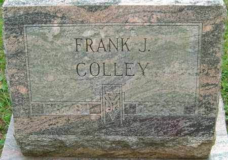 COLLEY, FRANK J - Franklin County, Ohio | FRANK J COLLEY - Ohio Gravestone Photos