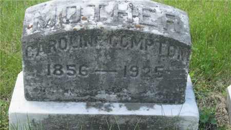 COMPTON, CAROLINE - Franklin County, Ohio | CAROLINE COMPTON - Ohio Gravestone Photos