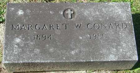 CONARD, MARGARET W - Franklin County, Ohio | MARGARET W CONARD - Ohio Gravestone Photos