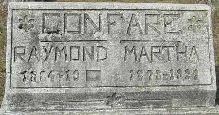CONFARE, MARTHA - Franklin County, Ohio | MARTHA CONFARE - Ohio Gravestone Photos