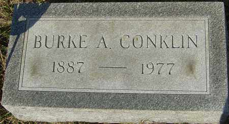 CONKLIN, BURKE - Franklin County, Ohio | BURKE CONKLIN - Ohio Gravestone Photos