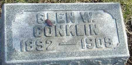CONKLIN, GLEN W - Franklin County, Ohio | GLEN W CONKLIN - Ohio Gravestone Photos
