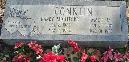 CONKLIN, HARRY MONTFORD - Franklin County, Ohio | HARRY MONTFORD CONKLIN - Ohio Gravestone Photos