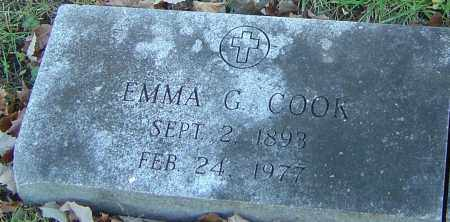 COOK, EMMA G - Franklin County, Ohio | EMMA G COOK - Ohio Gravestone Photos