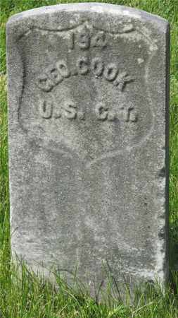 COOK, GEO. - Franklin County, Ohio | GEO. COOK - Ohio Gravestone Photos