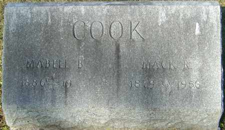 COOK, MACK R - Franklin County, Ohio | MACK R COOK - Ohio Gravestone Photos