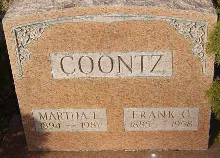 COONTZ, MARTHA E - Franklin County, Ohio | MARTHA E COONTZ - Ohio Gravestone Photos
