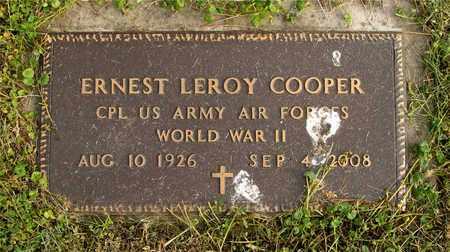 COOPER, ERNEST LEROY - Franklin County, Ohio | ERNEST LEROY COOPER - Ohio Gravestone Photos