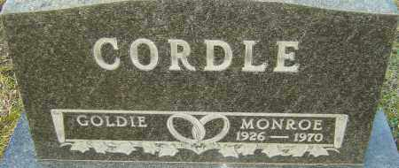 CORDLE, MONROE - Franklin County, Ohio | MONROE CORDLE - Ohio Gravestone Photos