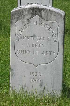 CORSON, LEMUEL H. - Franklin County, Ohio | LEMUEL H. CORSON - Ohio Gravestone Photos
