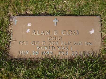 COSS, ALAN B. - MILITARY - Franklin County, Ohio | ALAN B. - MILITARY COSS - Ohio Gravestone Photos