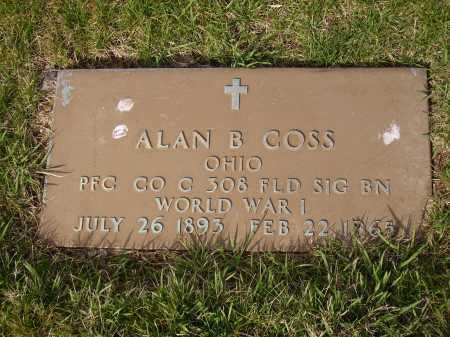 COSS, ALAN B. - MILITARY - Franklin County, Ohio | ALAN B. - MILITARY COSS - Ohio Gravestone Photos